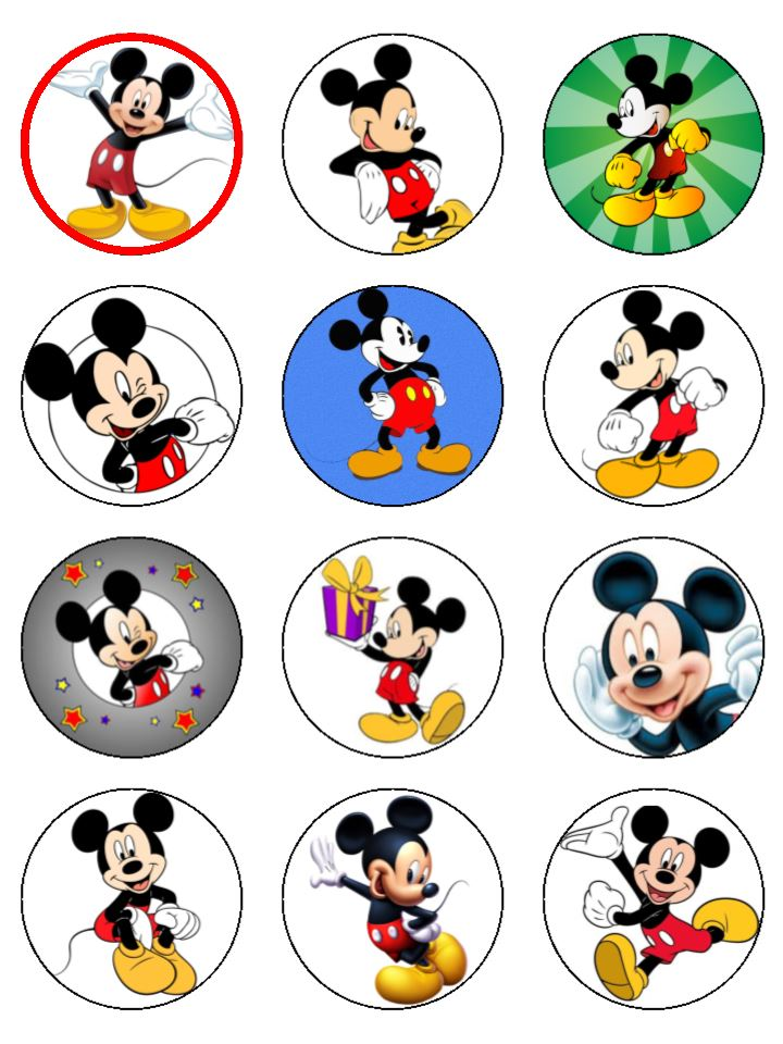 Mickey Mouse Cake Characters