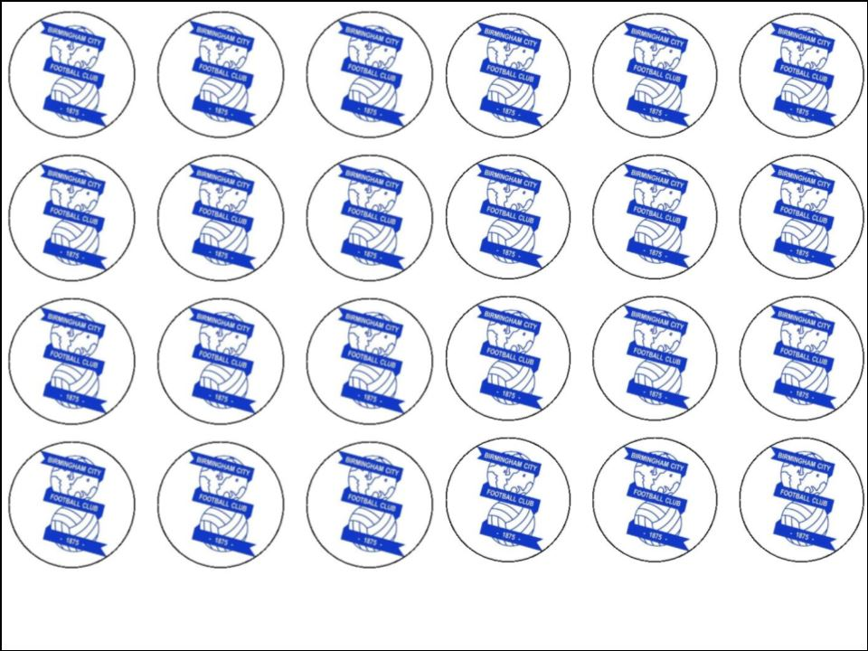 24 birmingham city fc edible wafer rice cup cake toppers 1377 p birthday cake order birmingham 1 on birthday cake order birmingham