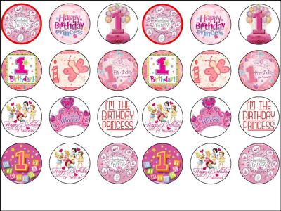 24 x baby princess girls 1st birthday edible wafer rice paper cup cake toppers 194 p birthday cake order in uk 7 on birthday cake order in uk