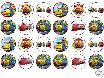 24 x Chuggington 16 rice paper cake toppers tops