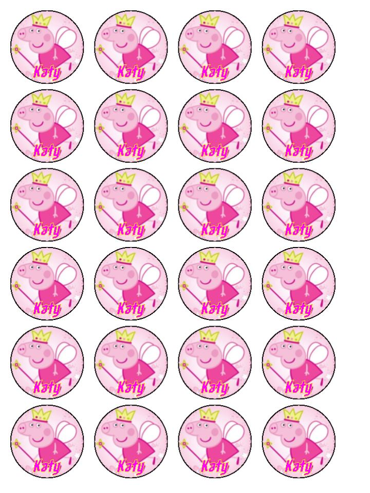 Pics Photos - Peppa Pig Cupcake Toppers 20 X 5cm