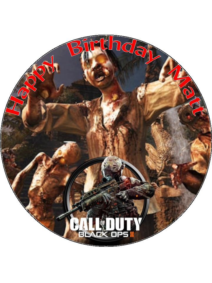 7.5 Call Of Duty Black Ops 2 COD Zombies Personalised ...
