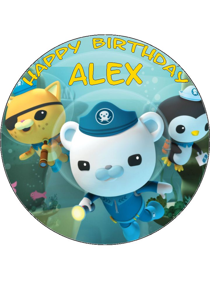 7.5 Circle Edible Octonauts Icing or Wafer Cake Topper ...