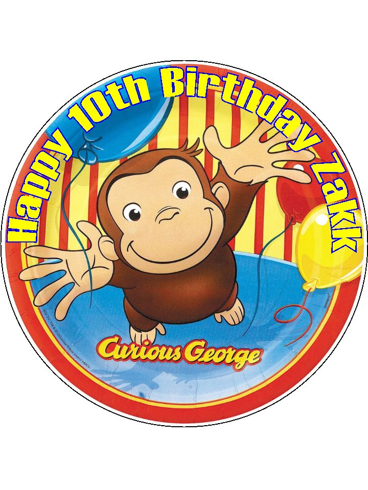 Curious George Cake Topper Uk