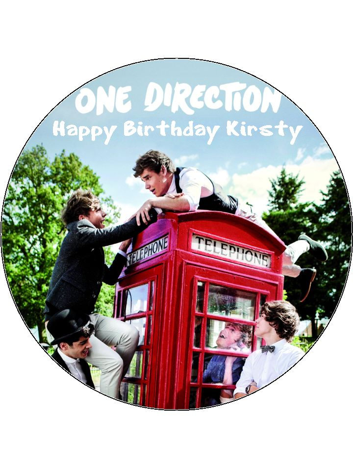 One Direction Cake Toppers