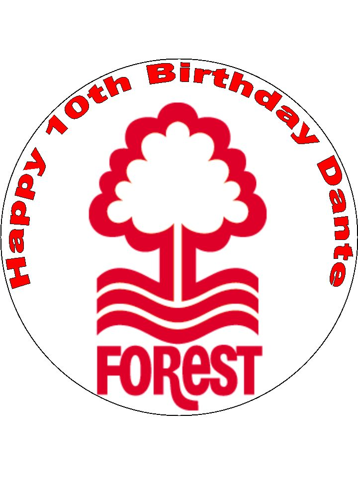 Nottingham Forest Cake Topper