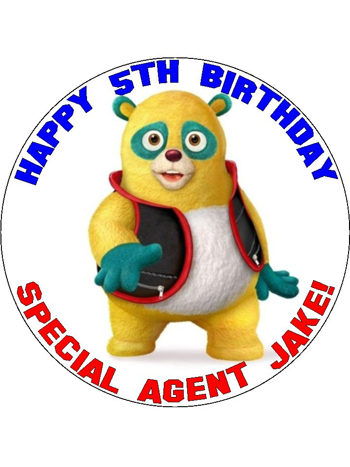 7 5 Personalised Special Agent Oso Edible Icing Or Wafer