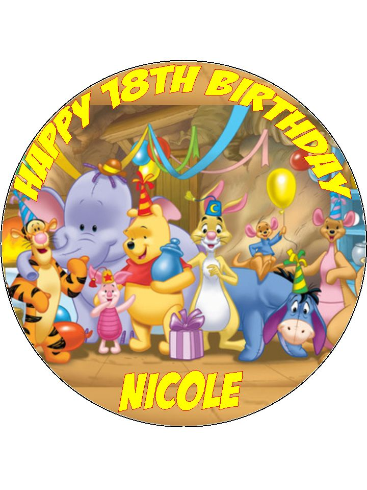 Cake Mate Decorating Icing Shelf Life : 7.5 Winnie The Poo Tigger Edible Icing or Wafer Birthday ...