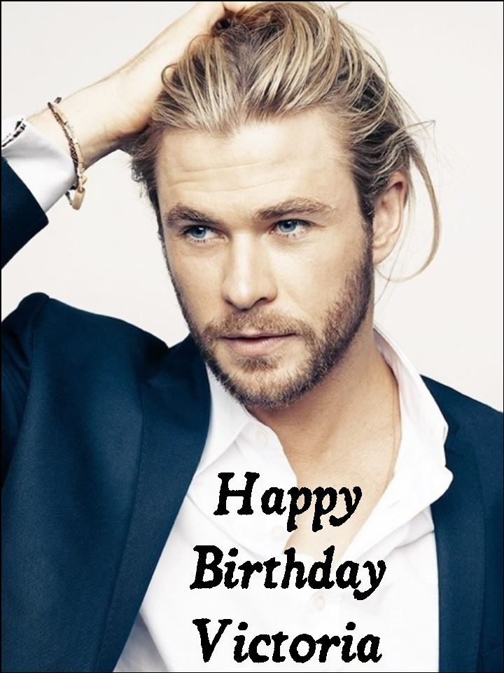 a4 chris hemsworth personalised edible icing or wafer