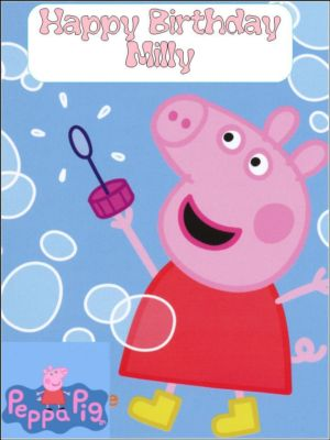 Edible Cake Images Peppa Pig : A4 Peppa Pig Personalised Edible Icing or Wafer Cake Top ...