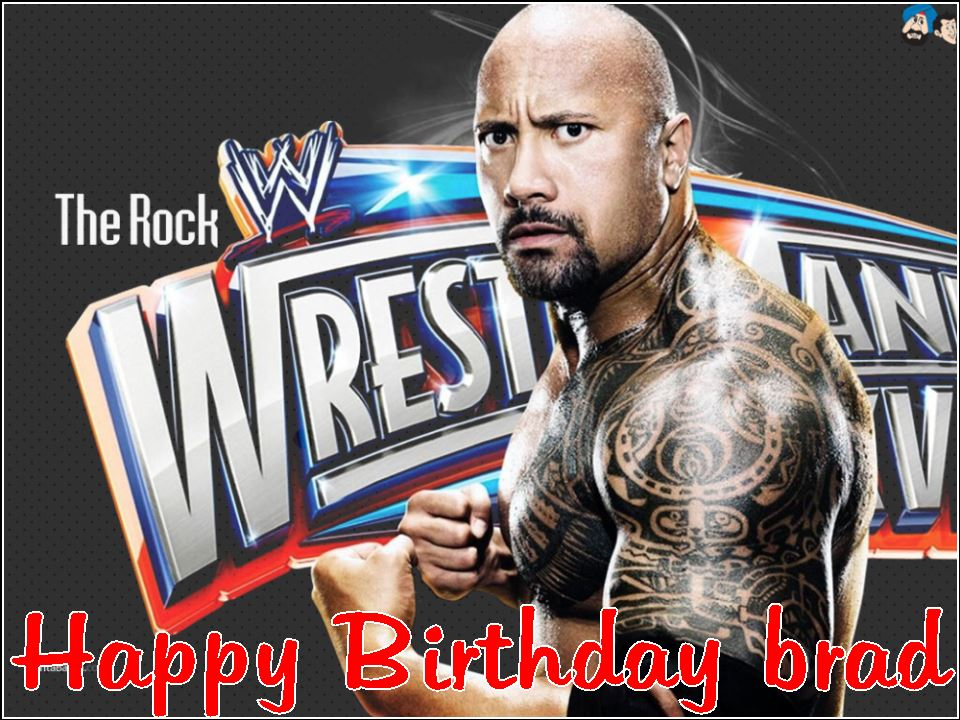 A4 Personalised The Rock WWE Edible Icing or Wafer Birthday Cake Topper