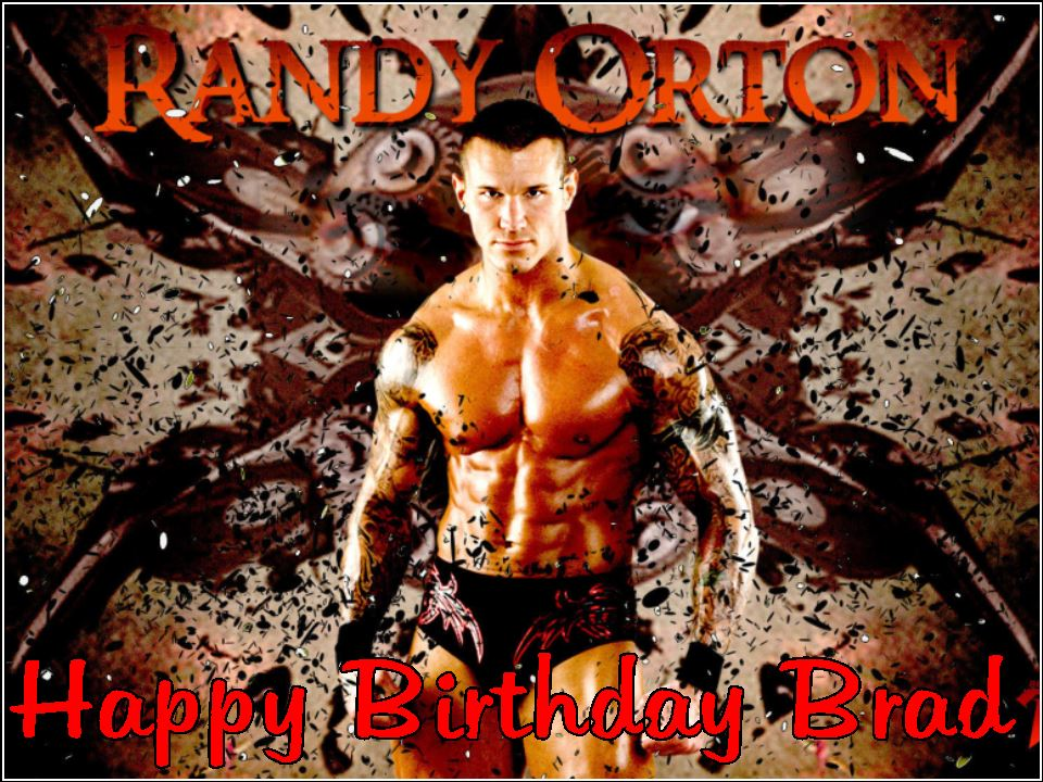 a4 personalised wwe randy orton edible icing or wafer cake top topper 1259 p birthday cake order in uk 9 on birthday cake order in uk