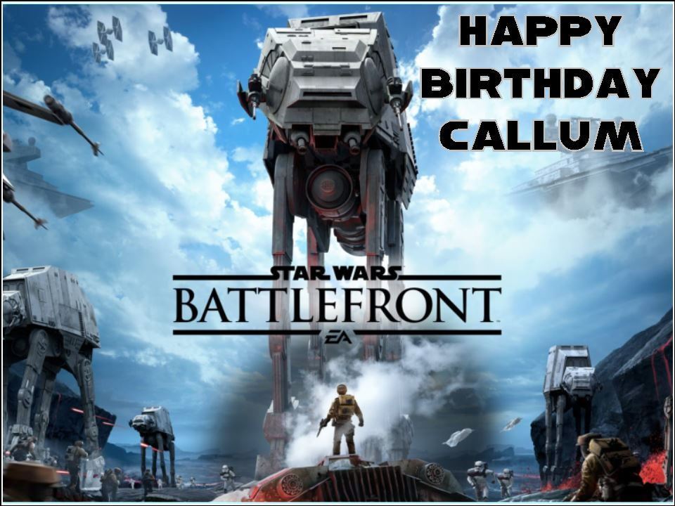 A4 Star Wars Battlefront Personalised Edible Icing or Wafer Birthday