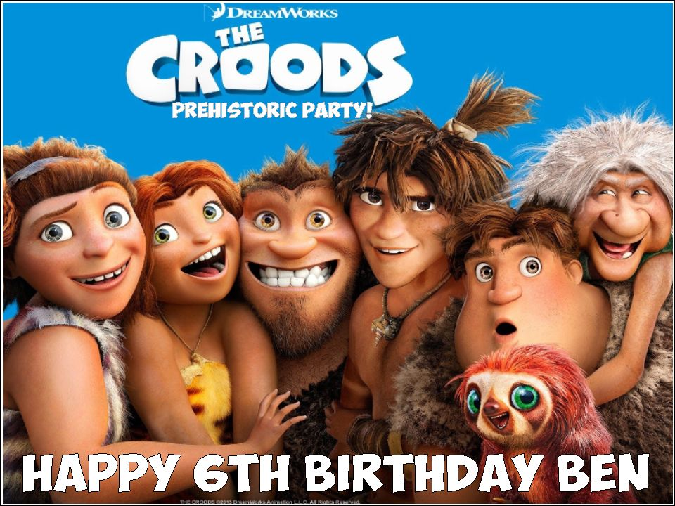 A4 The Croods Edible Icing Or Wafer Birthday Cake Topper