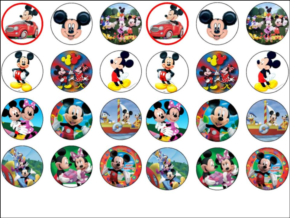 Minnie Mouse Cake Toppers Edible Archidev