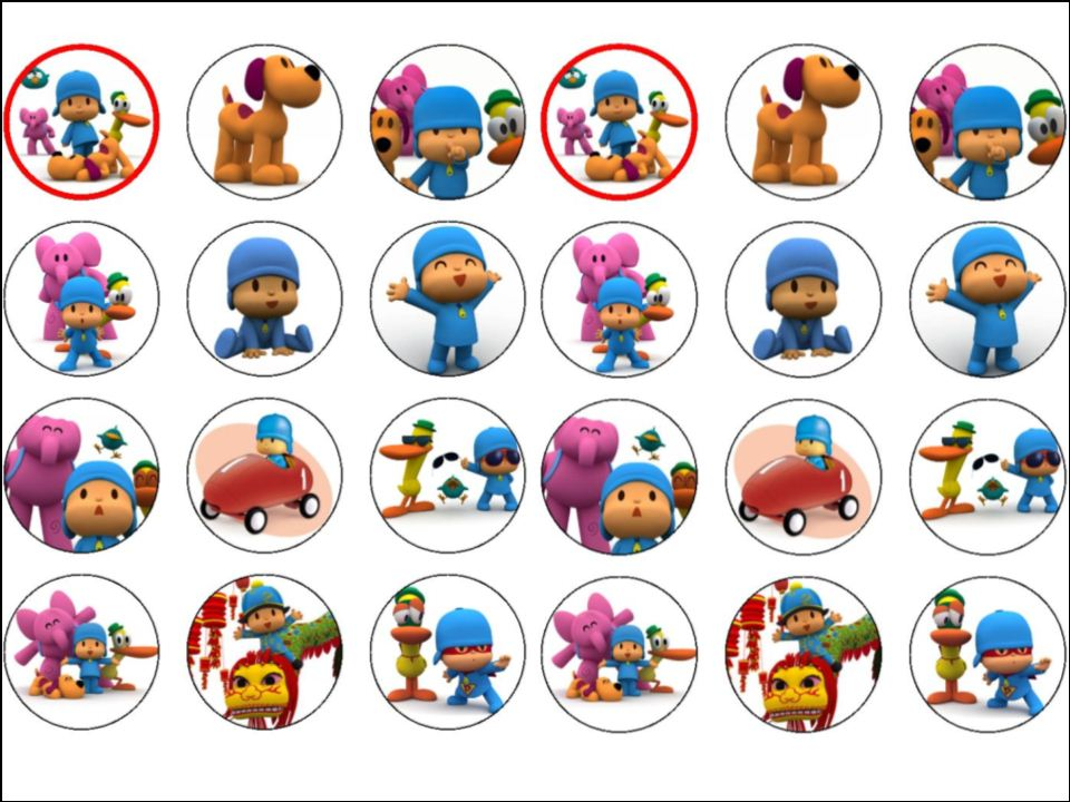 Swell 24 Pocoyo Edible Wafer Paper Rice Cup Cake Toppers Tops Funny Birthday Cards Online Alyptdamsfinfo