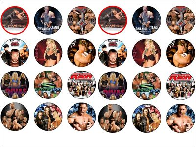 wwe cake toppers 24 wresting wrestlers wafer rice paper caketoppers 1503