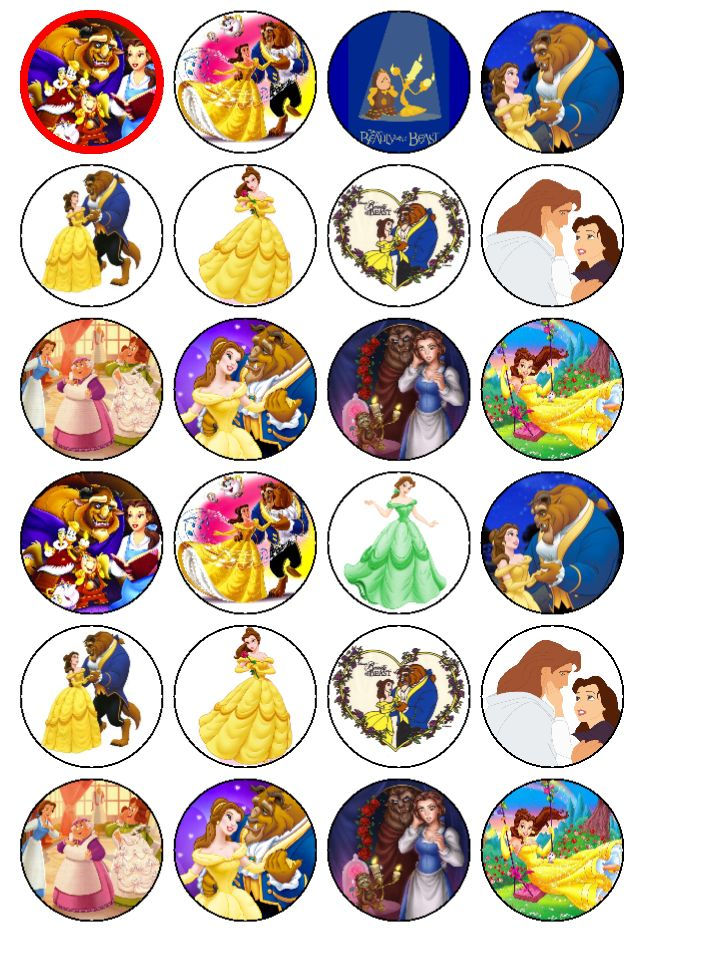 Beauty And The Beast Cake Topper Uk