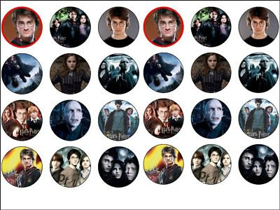 24 X Harry Potter Movies 16 Rice Paper Cake Toppers