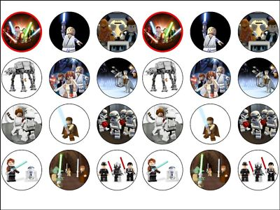 24 x Lego Star Wars Game Edible Rice Wafer Paper Cup Cake ...