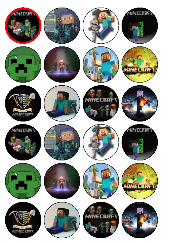 Minecraft Cake Toppers Uk