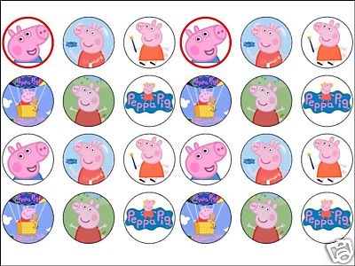 Prime 24 X Peppa Rice Cake Toppers Pig 1 6 Great Size Funny Birthday Cards Online Overcheapnameinfo