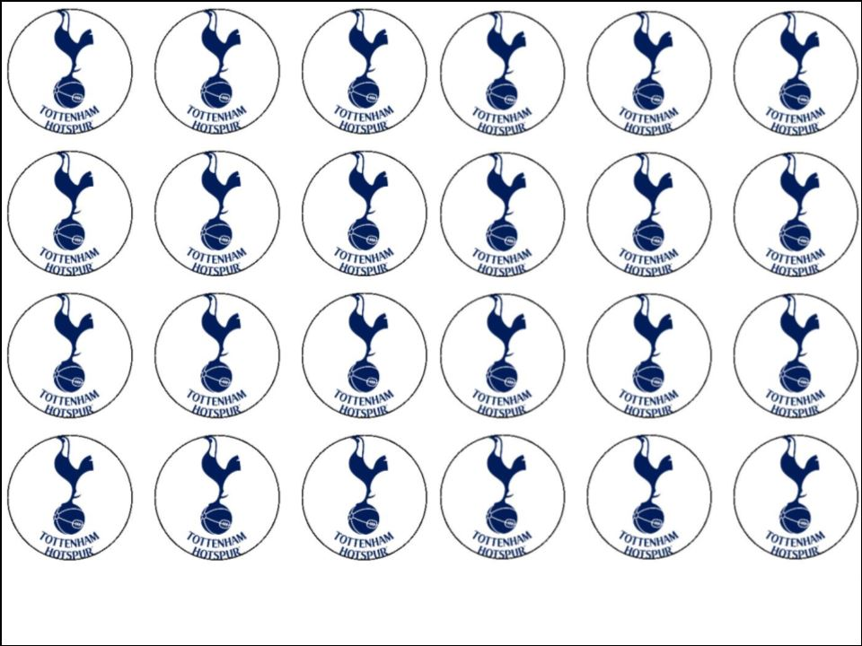 24 x Tottenham Hotspur Edible Wafer Rice Paper Cup cake ...