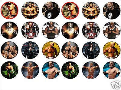 wwe cake toppers 24 x cena etc 1 6 edible rice wafer paper cup cake 1503