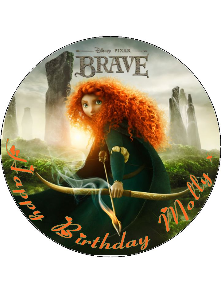 7 5 Disney Brave Edible Icing Or Wafer Birthday Cake Topper