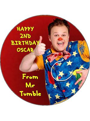 7 5 Mr Tumble Personalised Icing Or Edible Wafer Paper