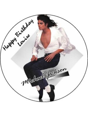 75 Personalised Michael Jackson Icing Or Wafer Cake Top Topper 323 P