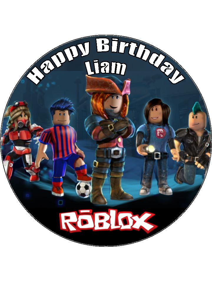 7 5 Personalised Roblox Edible Icing Cake Topper