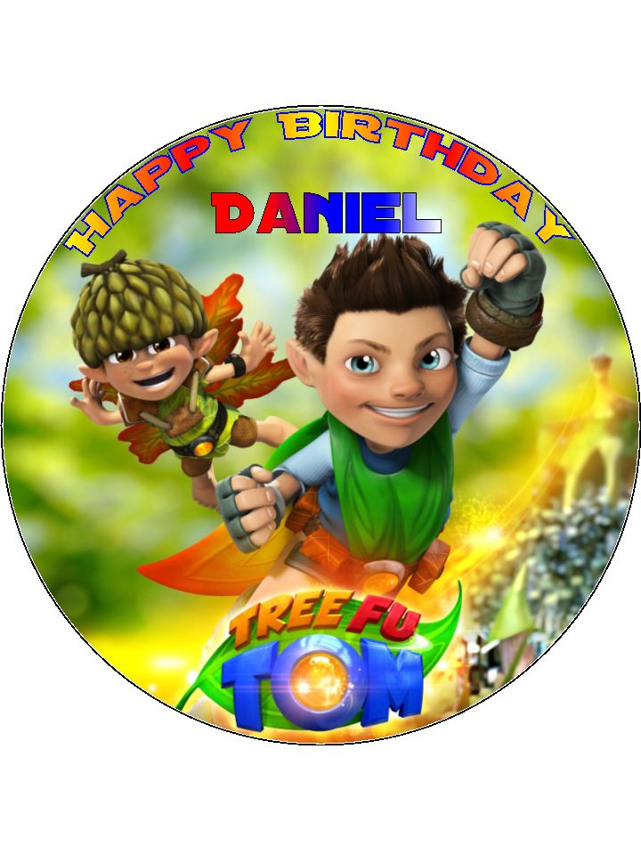 75 Personalised Tree Fu Tom Edible Icing Or Wafer Cake Top Topper