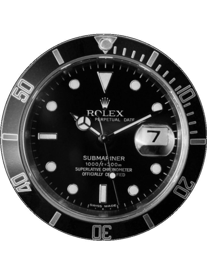 7 5 Rolex Watch Personalised Edible Icing Or Wafer Cake