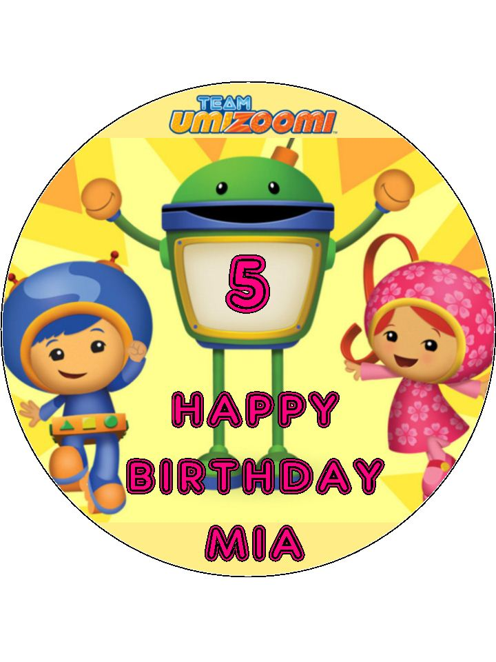 Fine 7 5 Team Umizoomi Edible Icing Or Wafer Birthday Cake Top Topper Personalised Birthday Cards Paralily Jamesorg