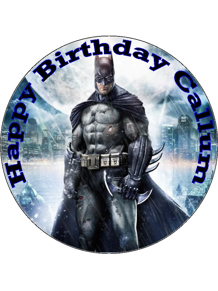 75 Batman Personalised Edible Icing Or Wafer Birthday Cake Top Topper
