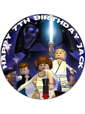75 Lego Star Wars Game Personalised Edible Icing Or Wafer Cake Top