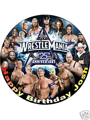 Peachy 7 5 X22 Wwe Wrestling Cena Hardy Etc Personalised Edible Icing Personalised Birthday Cards Cominlily Jamesorg