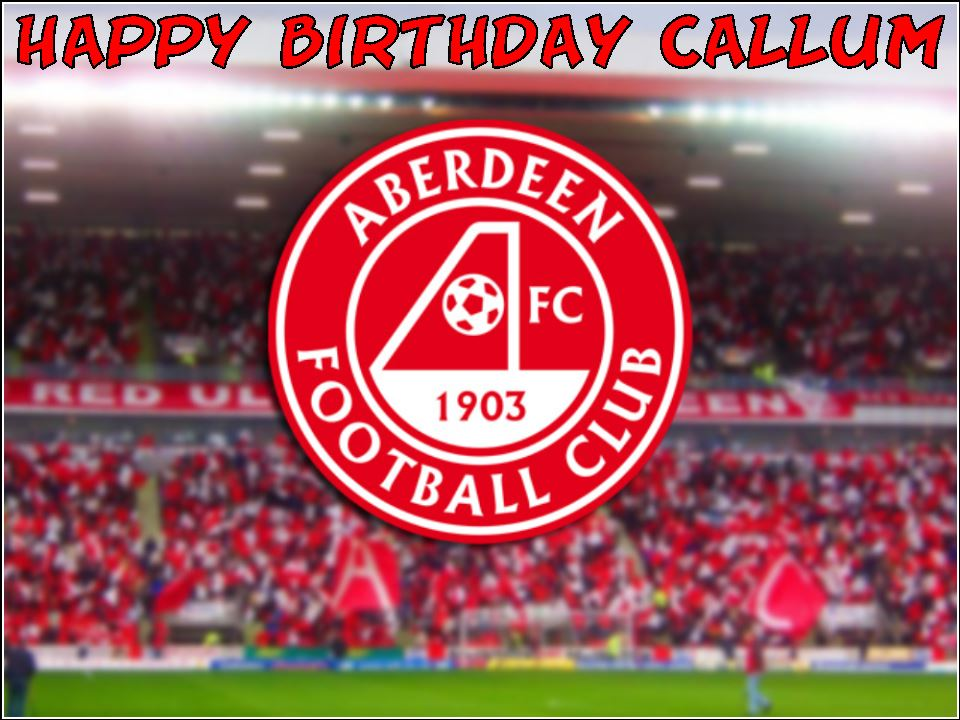A4 Aberdeen Football Club Fc Edible Icing Or Wafer Birthday Cake Topper
