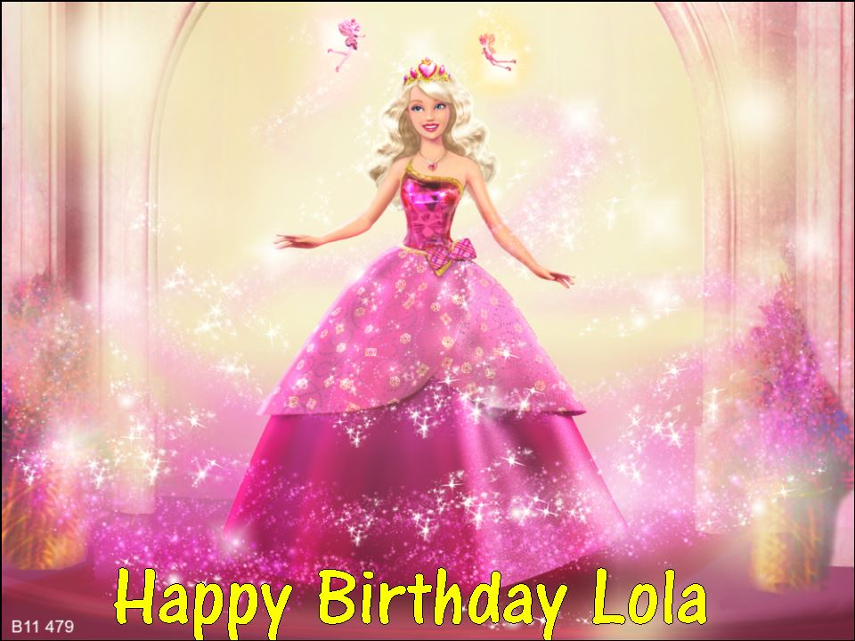 A4 Barbie Princess Personalised Edible Icing Or Wafer Birthday Cake Top Topper 1595 P