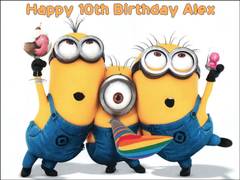 A4 Despicable Me Minions Personalised Edible Icing Or Wafer Birthday