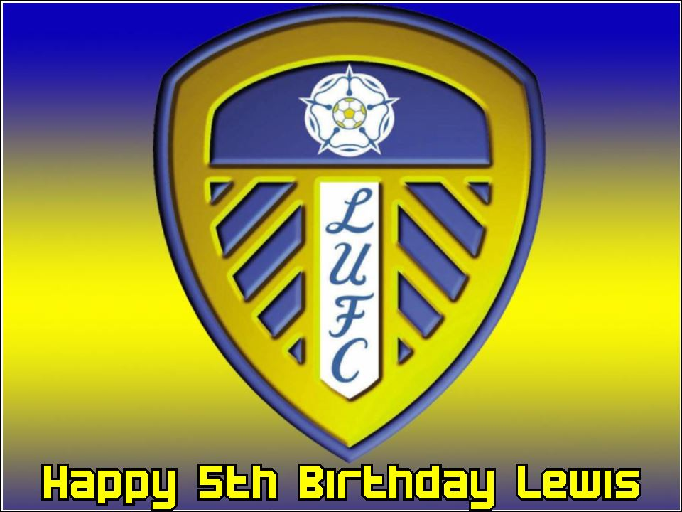 A4 Leeds United Football Club Edible Icing Or Wafer Cake
