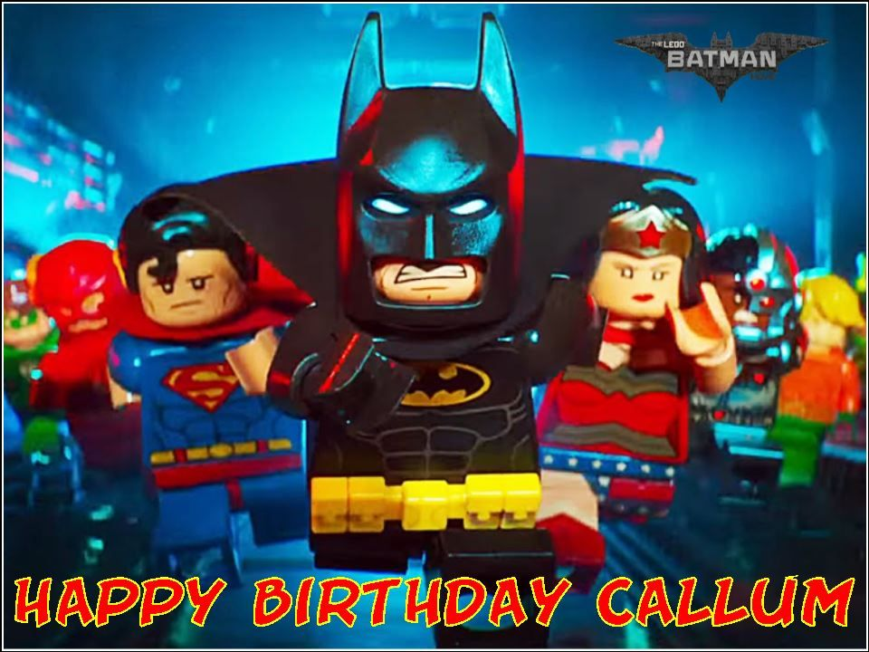 A4 Lego Batman Movie Edible Icing Or Wafer Birthday Cake Topper 5491 P