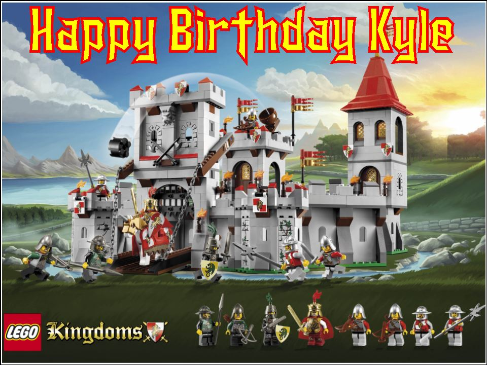 A4 Lego Kingdoms Edible Icing Or Wafer Birthday Cake Topper 1862 P