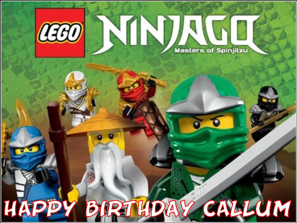 A4 Ninjago Lego Edible Icing Birthday Cake Topper Design B 4512 P