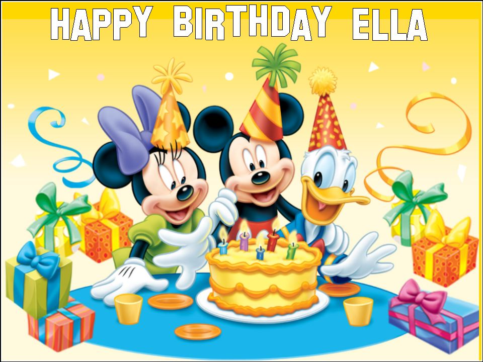 Phenomenal A4 Personalised Micky Minnie Mouse Donald Duck Edible Icing Or Funny Birthday Cards Online Elaedamsfinfo