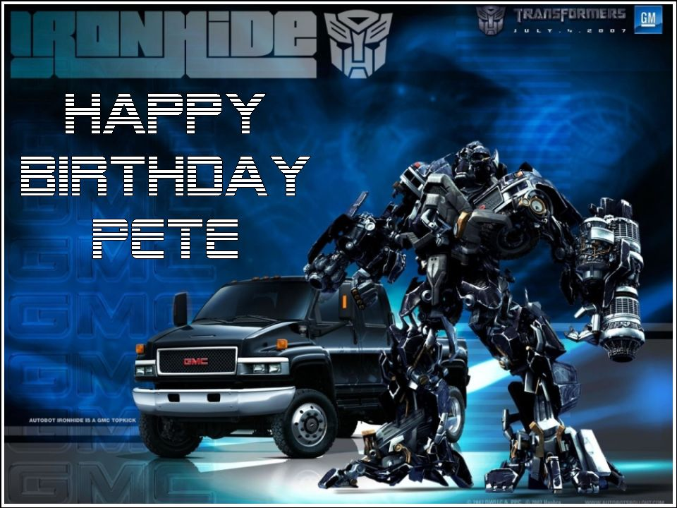 A4 Personalised Transformers Ironhide Edible Icing Or Wafer Cake Topper Iron Hide Material 2741 P