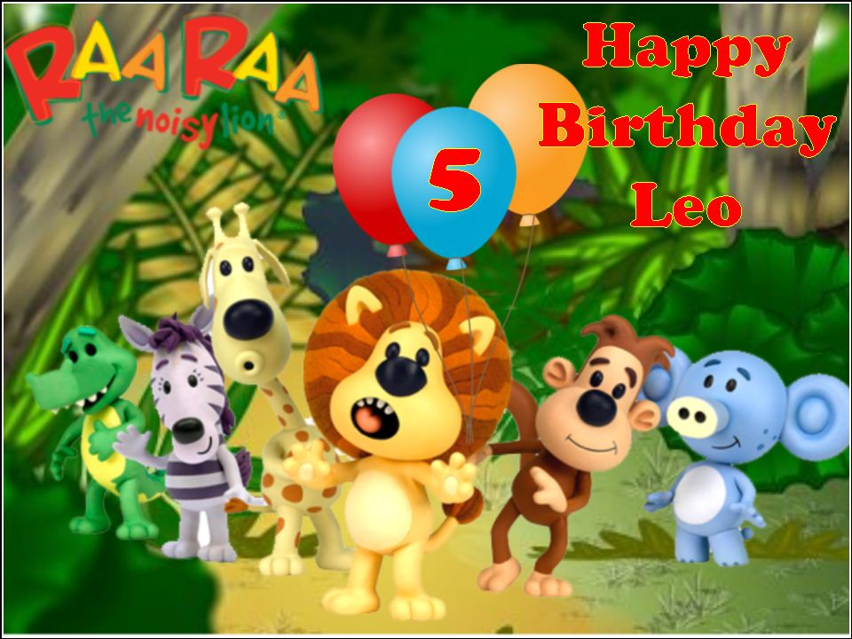 A4 Raa Raa The Noisy Lion Edible Icing Or Wafer Cake Topper