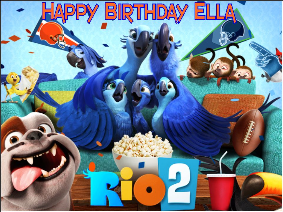 A4 Rio 2 Personalised Edible Icing Or Wafer Birthday Cake