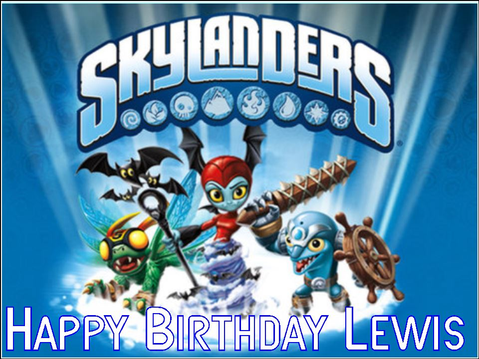 Super A4 Skylanders Trap Team Edible Icing Or Wafer Birthday Cake Topper Funny Birthday Cards Online Elaedamsfinfo